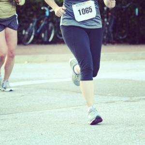 Legs running a 5K