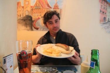 Xavier and his bratwurst