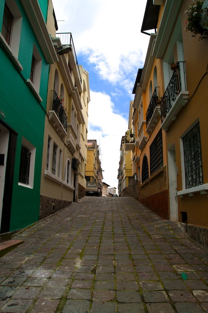 An alleyway in Quito