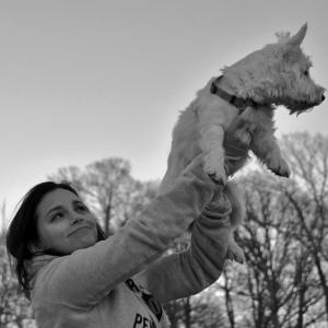 My dog and I, in the midst of a Lion King moment