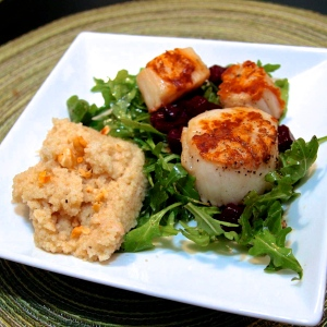 Seared Scallops with Shiraz-Glazed Beet Salad
