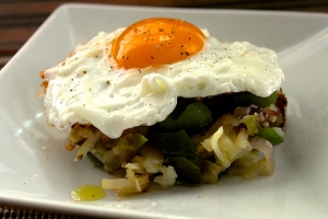 Triple-Pepper Hash Browns