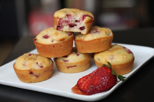 Strawberry-Olive Oil Muffins