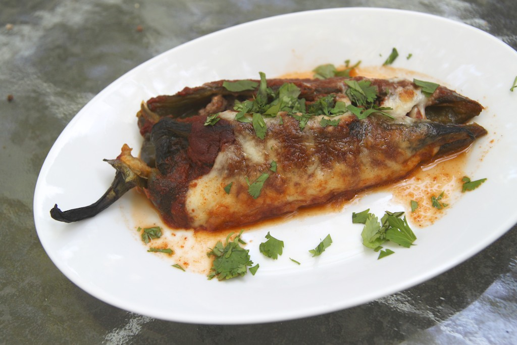 how to make chile rellenos with ground beef