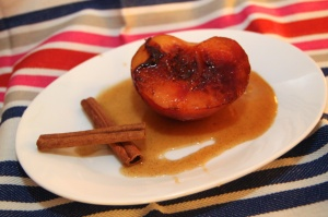 Sauteed Peaches with Cassia-Vanilla Syrup